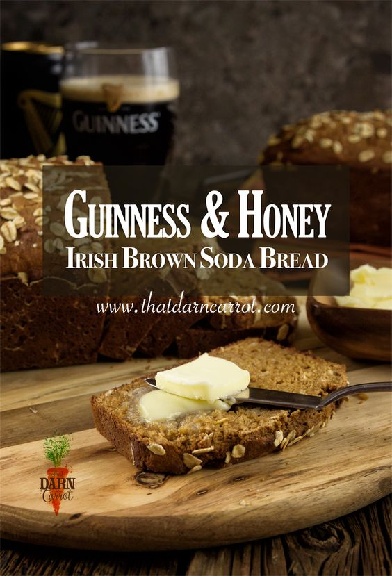 Guinness & Honey Sweet Brown Irish Soda Bread