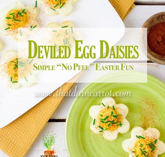 Deviled Egg Daisies for Easter